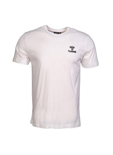 Hummel Hummel Erkek Beyaz Bisiklet Yaka T-Shirt Beyaz